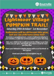 Lightmoor village pumpkin trail event poster